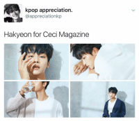 Memes, 🤖, and Kpop: kpop appreciation.  appreciationkp  Hakyeon for Ceci Magazine he's so surreal i can't . . . . . . . . . . . Credit to owner✌