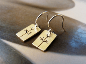 Birthday, Tumblr, and Blog: kreagora:  Trees Sterling silver earrings, dangle earrings, natural jewelry, small earrings, birthday gift for her