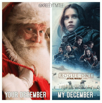 Yes!!: @KREEEYTIVITEE  ROGUE ONE  A WARS  STORY.  STAR YOUR DECEMBER  F MY DECEMBER Yes!!