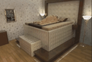 Alive, Definitely, and Fire: kreuzader:  theverge:  This earthquake-proof bed will bury you alive in comfort   Earthquakes. Humanity's oldest foe. Right up there with snakes, fire, and other humans when it comes to things that will definitely probably kill you some day. Which is why you need one of these terrifying earthquake-proof beds. In the event of a quake, your conspicuously massive four-poster will simply swallow you up whole, letting you get back to sleeping while the world itself shatters around you.  enter the S L E E P  C H A M B E R when mother earth is having a tantrum