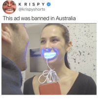 This girl is living in 3017 😁❄️ @snowteethwhitening thefuture smile ad: @krispyshorts  This ad was banned in Australia This girl is living in 3017 😁❄️ @snowteethwhitening thefuture smile ad