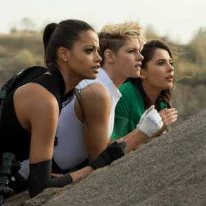 Kristen Stewart, Naomi Scott, and Ella Balinska are the new Charlie's Angels! Here's one of our first looks at the new movie.: Kristen Stewart, Naomi Scott, and Ella Balinska are the new Charlie's Angels! Here's one of our first looks at the new movie.