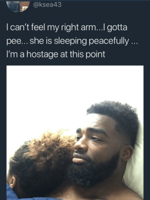 """Netflix, Sleeping, and Any Minute: @ksea43  I can't feel my right arm...I gotta  pee... she is sleeping peacefully..  I'm a hostage at this point Netflix is still on.. controller out of reach.. """"are you still watching"""" bouta come on any minute now"""