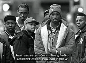 Ghetto, Mean, and Grow: ksou  ust cause you rein the ghetto  Doesn't mean you can't grow
