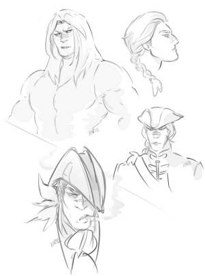 zartbitter-salat:  In the beginning Rhona will have long uncut hair for quite a while but I do not draw her like that very often haha there she is (and one sketch with her bicorn hat heh): kTB  ARTB zartbitter-salat:  In the beginning Rhona will have long uncut hair for quite a while but I do not draw her like that very often haha there she is (and one sketch with her bicorn hat heh)