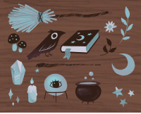 Tumblr, Blog, and Http: kteacrumpet: Lunar Witch Items