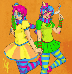 kurimja:  Trickster Jane and Roxy because I just read the update and I felt like doodling something quick with bright colours. :) : kurimja:  Trickster Jane and Roxy because I just read the update and I felt like doodling something quick with bright colours. :)