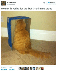 Ass, Memes, and Time: kurnthmas  @painted_eel  *  Follow  my son is voting for the first time i'm so proud  RETWEETSLIKES  27,843 69,301 Old Ass Memes Part 3