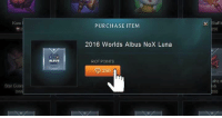 League of Legends, Riot, and Rush: Kuro  Star Guard  ALBUS  PURCHASE ITEM  2016 Worlds Albus NoX Luna  RIOT POINTS  250  Staff  ahq e Everyone rushing in the store like... Credits Voyboy