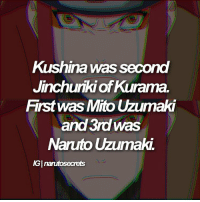 QOTD : favourite food ? AOTD : I love chicken and I also really like chicken wraps and burgers 😍😍😂 Ps. she can't use sage mode I just thought it looked cool: Kushina was Secord  Jinchuriki of Kurama.  First was Mito Uzumaki  and 3rd was  Naruto Uzumaki  AGInanutosecrets QOTD : favourite food ? AOTD : I love chicken and I also really like chicken wraps and burgers 😍😍😂 Ps. she can't use sage mode I just thought it looked cool
