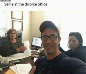 theboneylibrarian:This picture is worth WAY more than a thousand words.: KuwaiON.som  Selfie at the divorce office theboneylibrarian:This picture is worth WAY more than a thousand words.