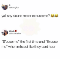 "Christmas, Merry Christmas, and Time: @kvvngicy  yall say s'cuse me or excuse me?  Aliyah  @hernamelee  ""Scuse me"" the first time and ""Excuse  me"" when mfs act like they cant hear Merry Christmas!"