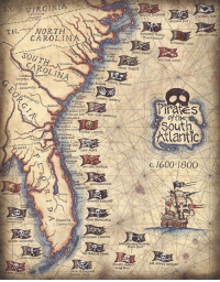 Dank, North Carolina, and Pirates: KY. VIRGINIA  N. NORTH  CAROLINA  SOUT  CAROLINA  eRRE LAET  Matanzas  Greenville  Coopers  WALTOR  MARY READ  WILLIAM KIDO  ANNE BONNY  t 2  Pirates  of the  Atlantic  C. 1600-1800 #Pirates of the South Atlantic and their flags, c. 1600 -1800  Source: https://goo.gl/Y5Ij7k