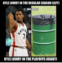 Kyle Lowry played terrible shooting 2-11😂😂 - Follow @2nbamemes: KYLE LOWRY IN THE REGULAR SEASON CLEFT)  NBA MEMES  RTO  VS  KYLE LOWRY IN THE PLAYOFFS (RIGHT Kyle Lowry played terrible shooting 2-11😂😂 - Follow @2nbamemes
