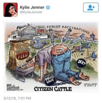ues: Kylie Jenner  @KylieJenner  , FORCED VAC  UES  NATO  ONS  UORIDE  US. G  EED  DEB  SPECIAL THANKS  To ALEX  BEN  GARRISON  OGRRRGRAPHICS.COM  CARASORCITVZEN CATTLE  3/12/16, 7:01 PM