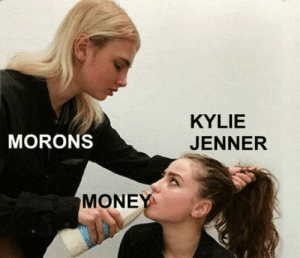 Kylie Jenner, Omg, and Tumblr: KYLIE  JENNER  MORONS  MONE omg-humor:  The world is a strange place