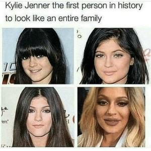 Family, Kylie Jenner, and History: Kylie Jenner the first person in history  to look like an entire family  era And it aint pretty