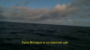 Target, Tumblr, and Blog: Kylie Minogue is so talented ugh subtitlebuoy:Wind speed 6.0 m/s. Sea temp: MM °C, air temp: MM °C. #kylieminogue