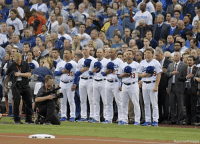 A moment of silence was held before Game 6 of the World Series on October 31 for those killed in the New York City terror attack.: Kyodo via AP Images) A moment of silence was held before Game 6 of the World Series on October 31 for those killed in the New York City terror attack.