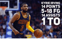"""Ok pet peeve time.  Let's talk about Kyrie Irving (hey hey hey put your pitchforks down, lemme say something THEN slaughter me people!) and his playmaking.  Last night he had one of his better passing nights getting 14 assists to only one turnover.  That's a good night for any point guard even with his rough shooting.  I give him full kudos- I'm glad to see him contribute to a win without having to score well.  That being said... oh dear gosh the narrative.  This morning ESPN ran a headline """"Kyrie Irving dishes a new narrative for the mercurial Cavs.""""  It was one game ESPN.  One. Game.  Now if Irving has turned a corner and averages 10 assists or something crazy I'll gladly eat crow.  But the league has a history of overreacting to small sample sizes.   Let's look at Irving's assist numbers by month-  Oct- 4.0 Nov- 4.6 Dec- 7.8 Jan- 5.2  So... how about we temper expectations and see if this is a new trend or an outlier?  Is that possible?  Alright go ahead with the pitchforks, I'm done for now.  😂  -TheJolson: KYRIE IRVING  14 POINTS  5-18 FG  14 ASSISTS  1 TTO Ok pet peeve time.  Let's talk about Kyrie Irving (hey hey hey put your pitchforks down, lemme say something THEN slaughter me people!) and his playmaking.  Last night he had one of his better passing nights getting 14 assists to only one turnover.  That's a good night for any point guard even with his rough shooting.  I give him full kudos- I'm glad to see him contribute to a win without having to score well.  That being said... oh dear gosh the narrative.  This morning ESPN ran a headline """"Kyrie Irving dishes a new narrative for the mercurial Cavs.""""  It was one game ESPN.  One. Game.  Now if Irving has turned a corner and averages 10 assists or something crazy I'll gladly eat crow.  But the league has a history of overreacting to small sample sizes.   Let's look at Irving's assist numbers by month-  Oct- 4.0 Nov- 4.6 Dec- 7.8 Jan- 5.2  So... how about we temper expectations and see if this is a new trend o"""
