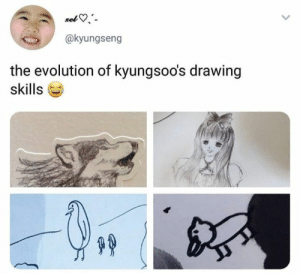 Memes, Evolution, and Exo: @kyungseng  the evolution of kyungsoo's drawing  skills EXO memes