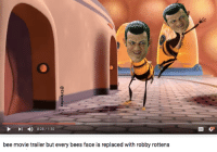 Bee Movie, Dank Memes, and Bees: l 0:28 1:30  bee movie trailer but every bees face is replaced with robby rottens