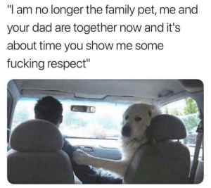 "Me Some: ""l am no longer the family pet, me and  your dad are together now and it's  about time you show me some  fucking respect"""