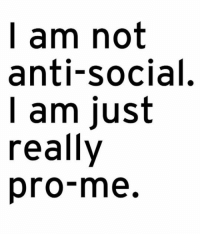 Tumblr, Blog, and Http: l am not  anti-social.  I am just  really  pro-me. srsfunny:Not Anti-Social