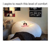 i aim for this: l aspire to reach this level of comfort i aim for this