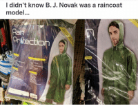 Memes, Walmart, and 🤖: l didn't know B. J. Novak was a raincoat  model  Rai  Prtectio when ur walking through walmart and have a double take: ———— theoffice dundermifflin dwightschrute michaelscott theofficeshow