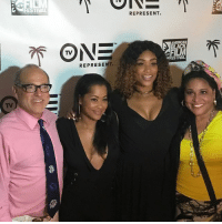 Memes, Oblige, and Festival: L FESTIVAL  ONE  REPRESENT.  REPRESENT. When the president of the network asks to take a photo, you oblige... having a blast at the @TVOne VIP dinner with my sis @1lisawu actorslife 20yearsstrong tvoneatabff