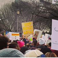 This sign at the Women's March in DC today. 💯 equalityforall womensmarch animalrights: l MARCH Eno  QUA  DONT  FORGET  NIMALS This sign at the Women's March in DC today. 💯 equalityforall womensmarch animalrights