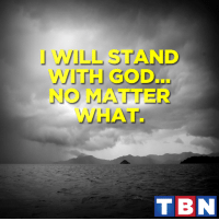 God will never forsake us. Never give up on Him!: L ND  ITH OD  NO MATTER  WHAT.  T BN God will never forsake us. Never give up on Him!