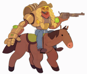 Tumblr, Blizzard, and Blog: l-nobby-l:  fox-draws: Hey @blizzard please consider this skin   #it seems this town hasnt been built big enough to withstand the lateral damage we are about to cause through a duel