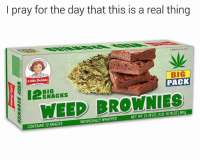 debbie: l pray for the day that this is a real thing  业  Little Debbie  BIG  PACK  BIG  SNACKS  I WEED BROWNIES  NDIVIDUALLY WRAPPED  NET. WT.31.78 OZ (1LB. 15780Z)901g  CONTAINS 12 SNACKS