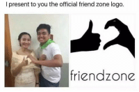 Friend Zone Logo: l present to you the official friend zone logo.  friend zone