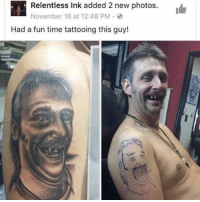 Memes, Wow, and Summer: L Relentless Ink 12:48 PM  new photos.  added 2 November 16 at Had a fun time tattooing this guy! 😍😍 Wow!!! Get that Summer Body Now! Get your FREE bottle of this amazing product now @amazing.weight.loss ▶️ @amazing.weight.loss ▶️ @amazing.weight.loss