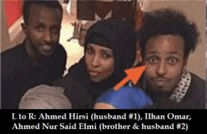 Crazy, Husband, and Brother: L to R: Ahmed Hirsi (husband #1), Ilhan Omar,  Ahmed Nur Said Elmi (brother & husband She's one crazy brotherfucker.