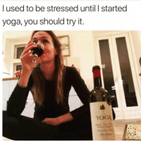 Love, Memes, and Yoga: l used to be stressed until started  yoga, you should try it Love yoga 😍🤣🤣