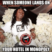 WHEN SOMEONE LANDS ON  Rhasta  YOUR HOTEL IN MONOPOLY Time to pay up bishhh 😂 💰💰instacomedy insta_comedy