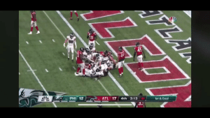 Football, Nfl, and Acl: LA  BE  45  AT  PHI 12  L 17  4th  3:13  1st&Goa  l  O-1 Carson Wentz can't even spike a football without almost tearing an ACL https://t.co/ZMfXpS6N85