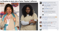 Shit, I just realized we hit 10k. Here's a controversial meme to celebrate.: La Chupitos le daria vida a Tasha 'Taystee' Jefferson.  EMIOS  Zayra Herrera I don't find this funny at all  Unlike Reply 39 June 20 at 1:35am  Taylor Anne Winger So confused am  I  missing something  Like 1 June 20 at 9:24am  Isaiah Williams Me neither  Like June 20 at 2:48pm  Izzy Garcia That's because it's not  supposed to be funny. Whatsoever  Like June 21 at 9:19am  Write a reply  Naomi Cabrera Ashis pero si Ya murio  Like Reply O21 June 19 at 122pm  6 Replies  Hannia Ortega La negra mas guapa en esa  serie aparte de la peloncita O  Like Reply 66 June 18 at 1136pm  Bere Mendez Jajaja ojetes  Like Reply 12 June 19 at 333am  View more comments  6 of 149  Write a comment. Shit, I just realized we hit 10k. Here's a controversial meme to celebrate.