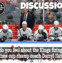Hockey, Memes, and Run: LA  DISCUSSIO  ON  Scotiabank S  S Scotiabank  nk S scci  LA  LA  do you feel about the Kings firing  time cup champ coach Darryl Sut We feel Darryl is one of the best, and most underrated coaches in the game of hockey. He knows how to elevate the games of his players at the right times. Missing the playoffs two of the last three years isn't Sutter's fault, its their aging cores fault. As the Kings continue to slide down the standings, not many other coaches would be able to rally a playoff run out of a non-competitive team like Sutter can. What do you think? Sutter nhldiscussion Kings HeadCoach