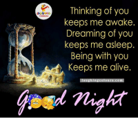 Good Night.. :): LA GHNG  Thinking of you  keeps me awake  Dreaming of you  keeps me asleep  Being with you  Keeps me alive.  a u  colo urs COm Good Night.. :)