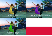Well played: LA LA LAND  DIPSY  ND  TINKY WINKY LAND Well played