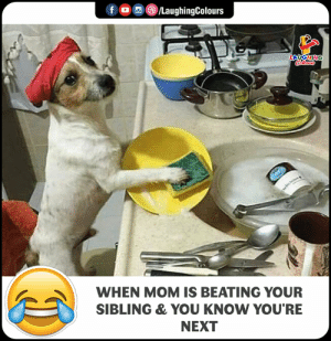 Indianpeoplefacebook, Mom, and Next: LA  WHEN MOM IS BEATING YOUR  SIBLING & YOU KNOW YOU'RE  NEXT