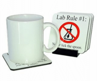 AVAILABLE on www.awesomeinventions.com (New products are uploaded every day. You can view them on the front page of the website): Lab Rule #1:  r lick the spoon AVAILABLE on www.awesomeinventions.com (New products are uploaded every day. You can view them on the front page of the website)