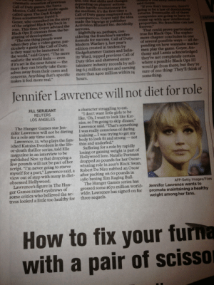 lacigreen:  justworkitgirl:  fightthewhispers:  journeyforhappiness:  This makes me love her even more.  Go Girl on Fire!  You go Jennifer Lawrence. We need more people like you in Hollywood <3  This is really awesome of her! She might be my new favorite actress.   : lacigreen:  justworkitgirl:  fightthewhispers:  journeyforhappiness:  This makes me love her even more.  Go Girl on Fire!  You go Jennifer Lawrence. We need more people like you in Hollywood <3  This is really awesome of her! She might be my new favorite actress.