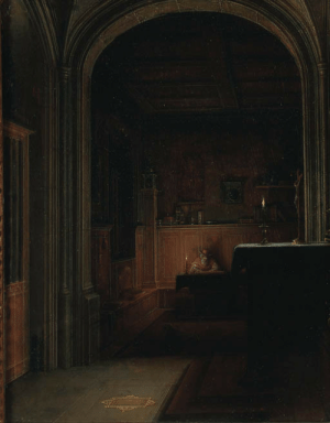 laclefdescoeurs:  Saint Jerome writing by candlelight in a gothic chapel, Hendrik van Steenwyck the Younger: laclefdescoeurs:  Saint Jerome writing by candlelight in a gothic chapel, Hendrik van Steenwyck the Younger