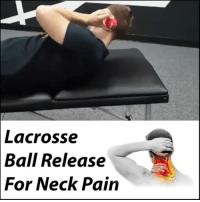 Memes, 🤖, and The Roots: Lacrosse  Ball Release  For Neck Pain ROLL OUT YOUR NECK TENSION Many people suffer from 💥 pain and tension at the base of the neck. There are many factors that can play into this, but a big one is loss of normal cervical spine mechanics. Due to our lifestyles where we stare down at our 📲 phones or at our computers all day, our necks get stuck in a forward position where the only way to keep our 👀 eyes forward is to crank our skull into extension. This extension comes from some tiny muscles at the base of the skull called the suboccipitals, which many if you headache sufferers will know all too well. This 🔒 locks down the upper neck, making the lower neck take on more stress and become overworked and 😠 angry. So here we show you how to start to get to the root of the problem by unlocking the upper cervical area. Follow this up with some deep diaphragmatic breathing to tone ⤵ down the upper traps and some postural awareness and you're quickly on your way to fixing your neck pain! Tag a friend with neck pain and share the wealth! MyodetoxOrlando Myodetox FutureproofYourBody